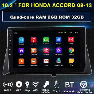 For 08-13 Honda Accord 10.1'' Android 9.1 GPS Navigation Stereo Radio WiFi 2+32G 12