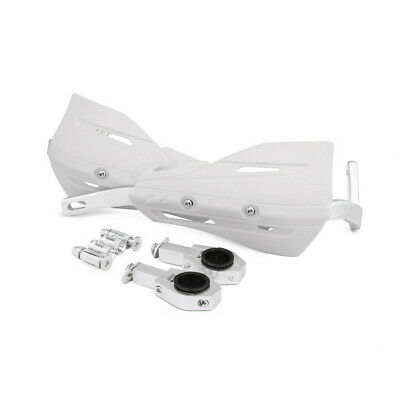 1 Set White Motorcycle ATVs 28mm 22mm Handlebar Protection Handguard+Fitting Kit 2