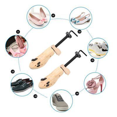 2-Way Wooden Shoes Stretcher Expander Shoe Tree Unisex Bunion Plugs 3