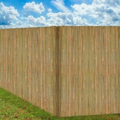 Garden Bamboo Fence Slat Screening Slatted Privacy Shield Wind/Sun Protraction 4