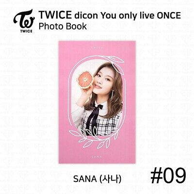 TWICE x dicon You Only Live ONCE Card Photo Book Postcard Sana KPOP K-POP 12