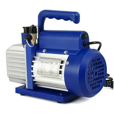 3,5 CFM Rotary Vane Vacuum Pump 1/4HP HVAC R134a Air Refrigerant Conditioning 10