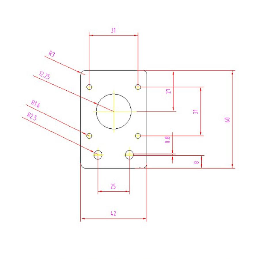 Nema 17 42mm Stepper Motor Mount Flat Bracket Alloy Plate CNC 3D Printer Parts 4