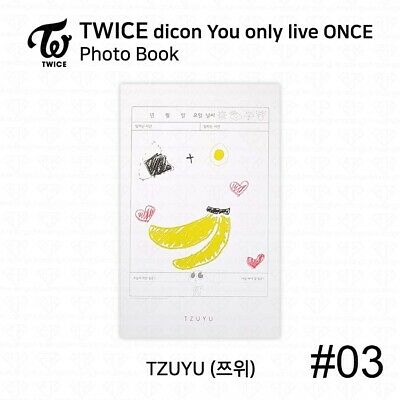 TWICE x dicon You Only Live ONCE Card Photo Book Postcard Tzuyu KPOP K-POP 6
