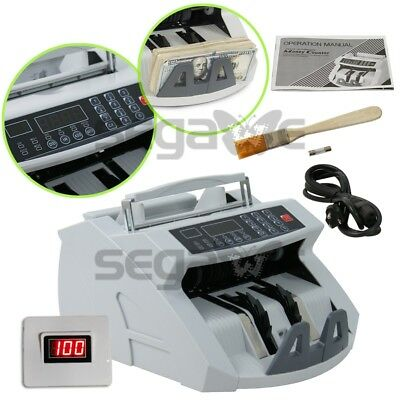 Money Bill Counter Machine Cash Counting Counterfeit Detector UV MG Bank Checker 3