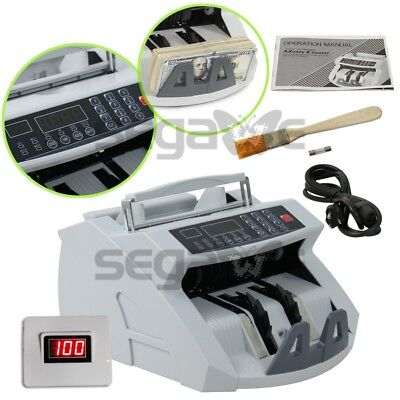 New! Money Bill Cash Counter Bank Machine Currency Counting UV & MG Counterfeit 3