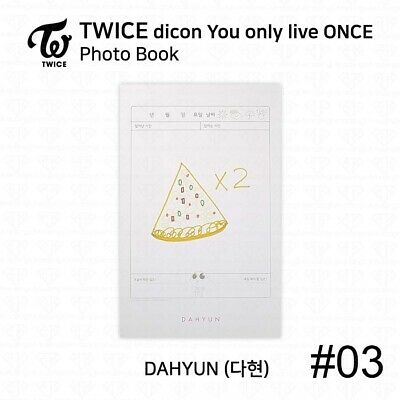 TWICE x dicon You Only Live ONCE Card Photo Book Postcard Dahyun KPOP K-POP 6