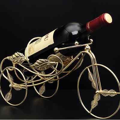 2x Metal Bike Wine Bottle Rack Decor Holder Stand Basket Tricycle HWIHA 3291 x 2 2