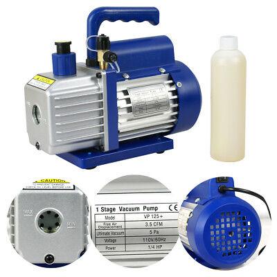 3,5 CFM Rotary Vane Vacuum Pump 1/4HP HVAC R134a Air Refrigerant Conditioning 8