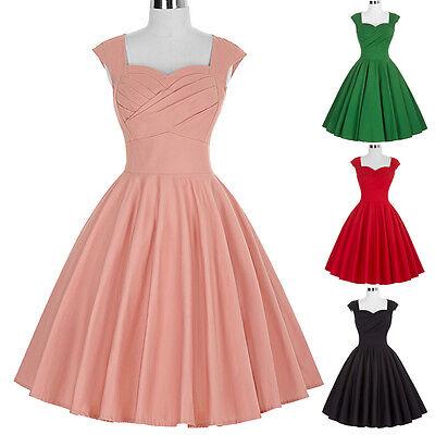 Donna Vintage Retro 40s 50s 60s A Campana Da Sera, Da Festa, Da Ballo Swing 4