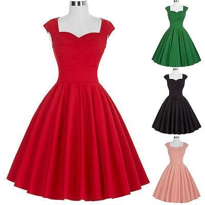Donna Vintage Retro 40s 50s 60s A Campana Da Sera, Da Festa, Da Ballo Swing 5