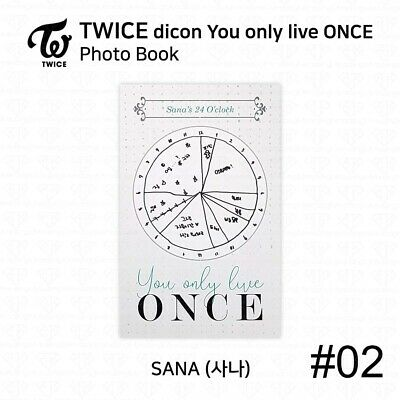 TWICE x dicon You Only Live ONCE Card Photo Book Postcard Sana KPOP K-POP 5