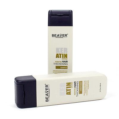Keratin Thickening Shampoo Hair Loss Treatment Regain Hair Shine ORIGINAL BEAVER