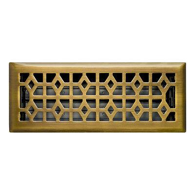 x 12 in Floor Register 4 in Antique Brass Diffuser Vent Cover Heating AC HVAC