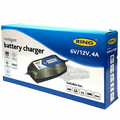 Ring RSC404 6v 12v 4A Digital Intelligent Smart Car Motorbike Battery Charger 5