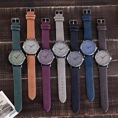 Unisex Fashion Casual Women's Watches Men Leather Bracelet Quartz Wrist Watch 4