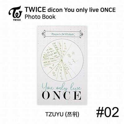 TWICE x dicon You Only Live ONCE Card Photo Book Postcard Tzuyu KPOP K-POP 5