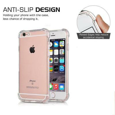 For iPhone 6S 7 8 Plus X XS XR 11- Clear Case Soft TPU Bumper Cover ShockProof 6