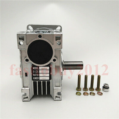 NEMA24 Worm Speed Reducer Gearbox 10 15 20 25 30 40 50 60 100:1 fr Stepper Motor 12