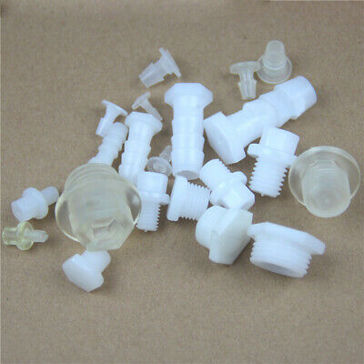 """Plastic Stop End Cap Barbed Hose Connector Male Thread Pipe Fitting 1//8/""""~1//2/""""BSP"""
