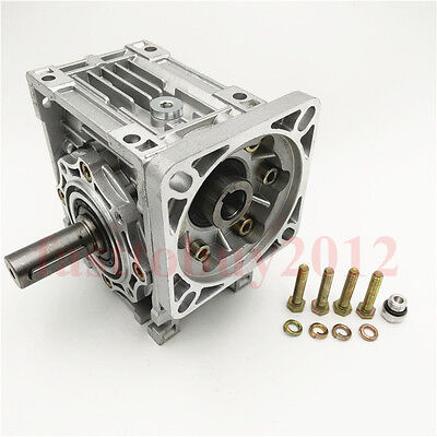 NEMA24 Worm Speed Reducer Gearbox 10 15 20 25 30 40 50 60 100:1 fr Stepper Motor 3