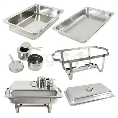4 Pack Catering Stainless Steel Chafer Chafing Dish Sets 8 Qt Party Pack 4