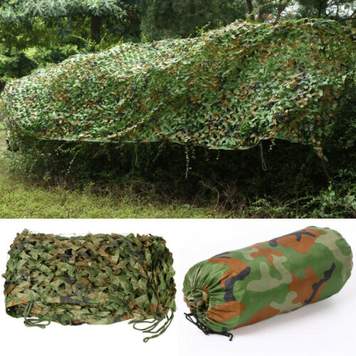 Camouflage Net Camo Hunting Shooting Hide Army Camping Woodland Netting 5M x1.5M 9
