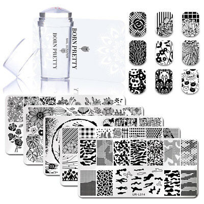 3pcs/lot Nail Art Immagine Piastra Silicone Stamp & Raschietto Set Stamping Tool 2