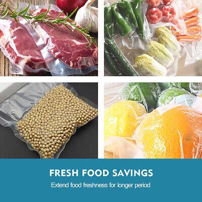 100 X Vacuum Sealer Bags Precut Food Storage Saver Heat Seal Cryovac 3 Size 11