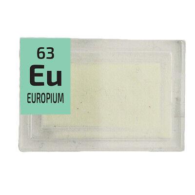 Europium rare earth amazing glow powder. Element Eu in Periodic Element Tile. 2