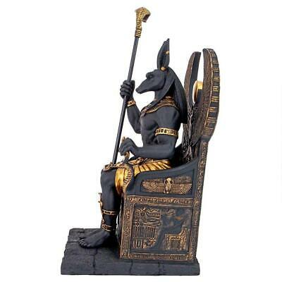 WU76733 - Egyptian Anubis God Sitting on the Throne of the Underworld Statue 6