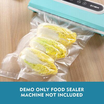 100 X Vacuum Sealer Bags Precut Food Storage Saver Heat Seal Cryovac 3 Size 12