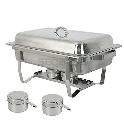 4 Pack Catering Stainless Steel Chafer Chafing Dish Sets 8 Qt Party Pack 5