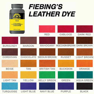 Fiebing's Leather Dye W/ Applicator For Shoes, Boots, Bags, Couches (All Colors) 2