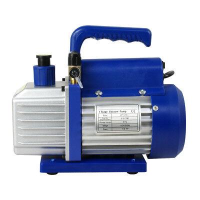 3,5 CFM Rotary Vane Vacuum Pump 1/4HP HVAC R134a Air Refrigerant Conditioning 6