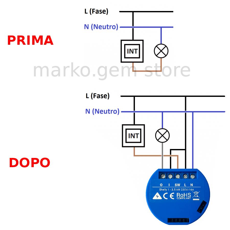 Domotica interruttore WiFi SHELLY e SONOFF  smartphone APP e NEST orologio alexa 2
