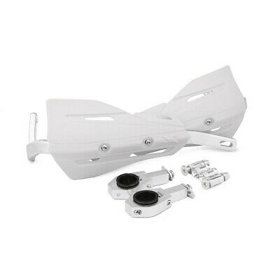 1 Set White Motorcycle ATVs 28mm 22mm Handlebar Protection Handguard+Fitting Kit 3