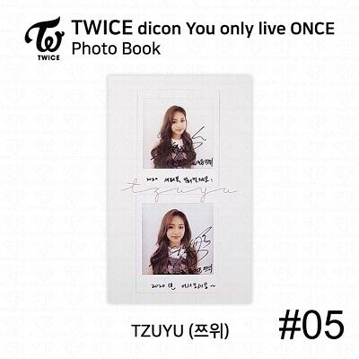 TWICE x dicon You Only Live ONCE Card Photo Book Postcard Tzuyu KPOP K-POP 8