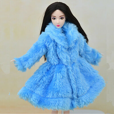 Kid Playhouse Toy Doll Accessories Winter Wear Pink Coat Clothes For 1/6 Doll 6