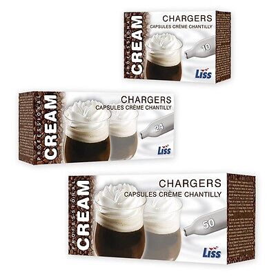 LISS Nitrous Oxide Chargers Whipped Cream N2O NOS NOZ 8g CREAM CANISTER 3