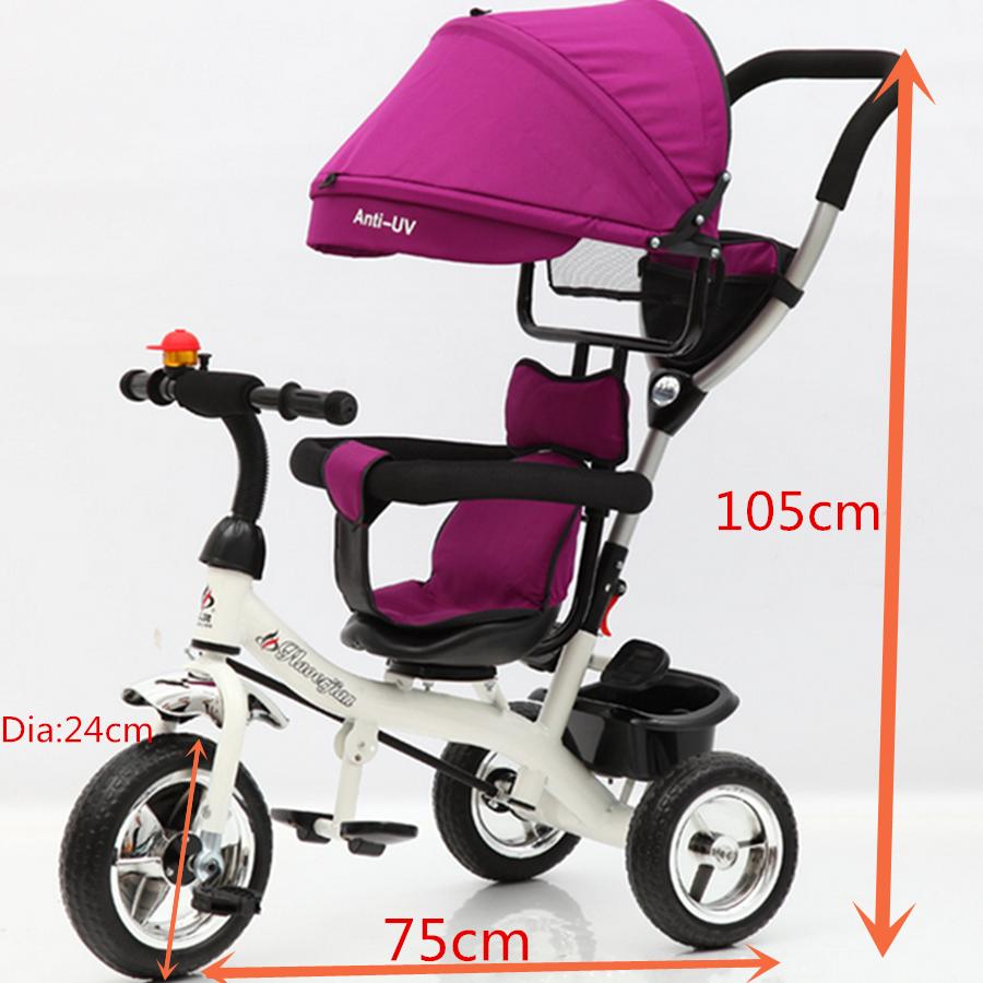 Reverse Baby Kid Toddler Tricycle Bike Trike Ride-On Toys Stroller Prams GMC0010