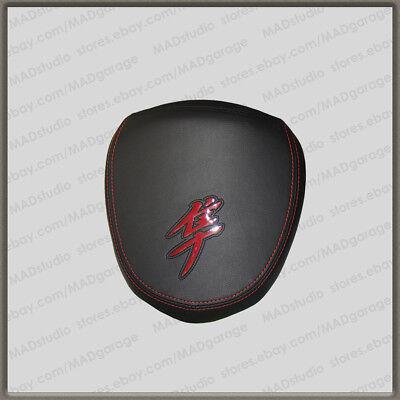 First-Gen Unique Custom Seat COVER Black+Red Suzuki GSX1300R Hayabusa 99-07