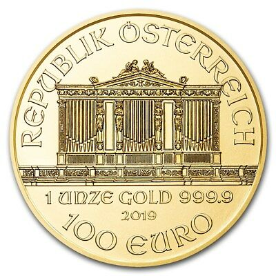 2019 Austria 1 oz Gold Philharmonic Coin BU - SKU #181035 2