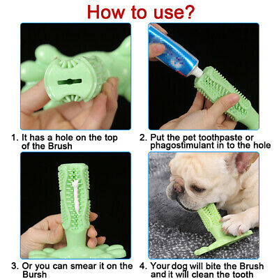 Dog Toothbrush Pet Brushing Stick Teeth Cleaning Chew Toy For Pet Dogs Oral Care 3