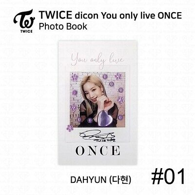 TWICE x dicon You Only Live ONCE Card Photo Book Postcard Dahyun KPOP K-POP 4