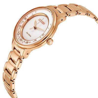 Citizen Women's Eco-Drive EM0382-86D Circle of Time Diamond Accents 30mm Watch 3