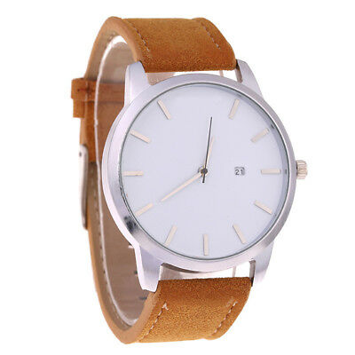 Fashion Watch Men's Stainless Steel Quartz Sport Analog Band Leather Wrist Watch 11