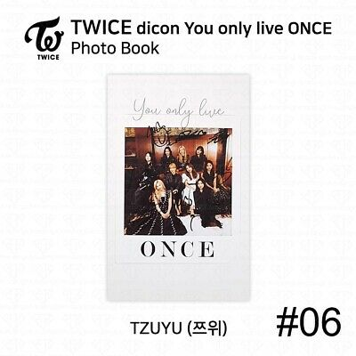 TWICE x dicon You Only Live ONCE Card Photo Book Postcard Tzuyu KPOP K-POP 9