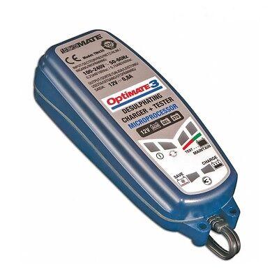 Chargeur Tecmate Optimate 3 TM-430 pour moto de 3 à 50ah nouveau modèle 3