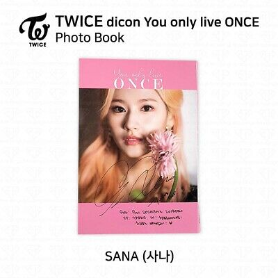 TWICE x dicon You Only Live ONCE Card Photo Book Postcard Sana KPOP K-POP 3